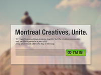Montreal Creatives, Unite.