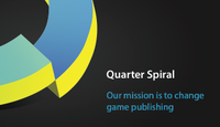 Quarter Spiral Business Cards - back