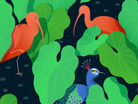 Jungle Birds Pattern