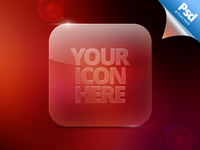 Glass Icon Template