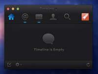 Dark Mac App UI