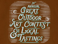 Great Outdoor Art Contest & Local Tastings Poster