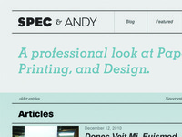 Spec & Andy Website