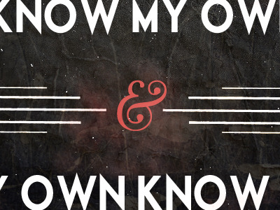 I_know_my_own