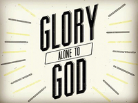 Glory alone to God