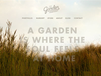 The Garden Company Site Concept