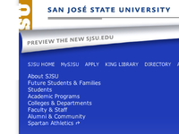 The New SJSU.edu Preview