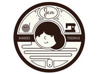 jen makes things tag & logo