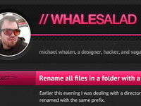 New Whalesalad Design: Abandoned!