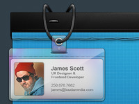 Louda - Temp Page - ID Badge