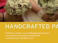 hand crafted flower ad