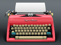 Retro Typewriter (with paper)