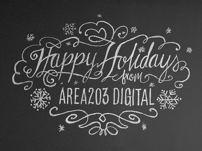 Holiday Chalk Wall Design