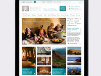 Luxury travel website landing page