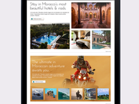 Luxury travel website holiday themes