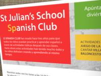 Brochure for Spanish classes