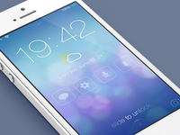 iOS7 Lock screen - Redesign (@2x)