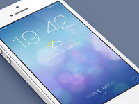 iOS7 Lock screen v2 - Redesign
