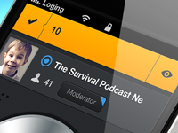 Zello App ☞ bar navigation