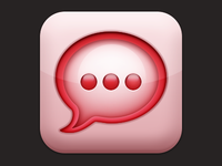 Strawberry Message Icon