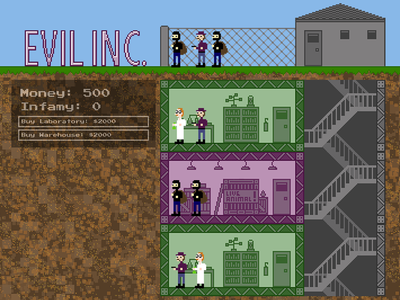 Pixel Art for Ludum Dare 25 - Evil Inc.