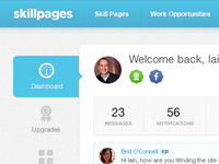 SkillPages Dashboard