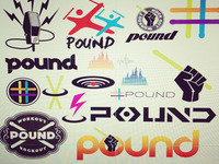 Vector ideation for POUND FITNESS logo