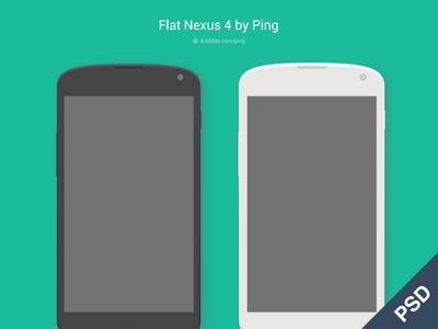 Download Flat Nexus 4 Phone
