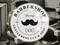 Barber shop label