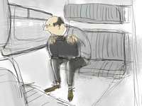 Man on train