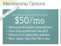 Shot Membership Options
