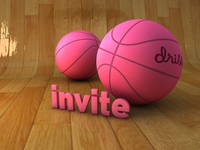 Dribble Invites.. Wood floor