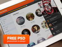 PSD (Free download) Grooveshark Design