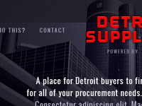 Detroit website concept
