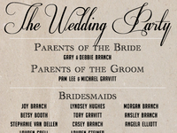 Gravitt Wedding Program