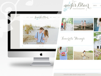 Jennifer Blair Photography ( branding + web design )