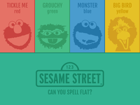 Sesame Street Pioneered The Flat Color Palette