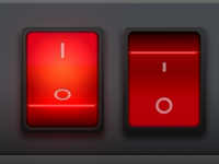 Red Interface Buttons