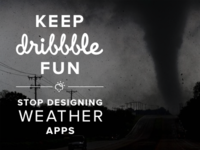 Keep Dribbble Fun