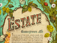 Estate Beer Label