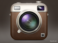 Retro Camera icon inspired by Instagram