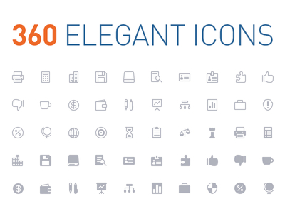 Download 360 Elegant Icons