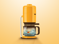 Goldfish in Coffee maker