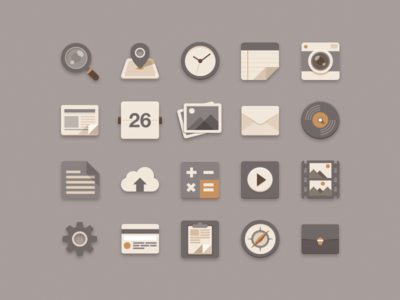 Download Flat Icons Brownie Theme