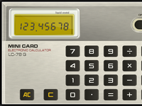 Mini Card Calculator