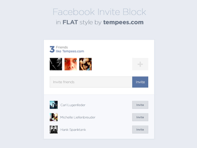 Download Facebook Invite Block in Flat Style