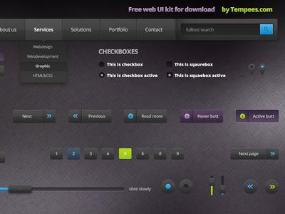 Download Free Dark Web UI Kit