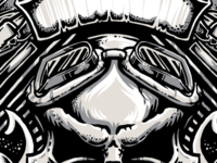 V-Twin Skull and Banners