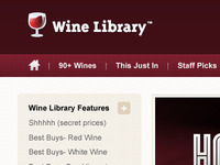 WineLibrary Web Design