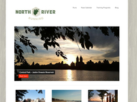 North River Running website